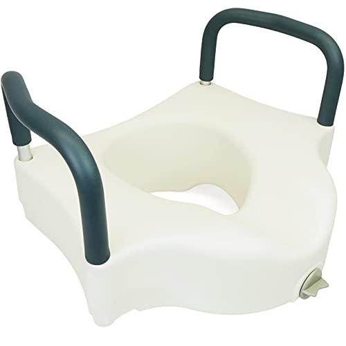 PrimeMatik - Toilettensitzerhöhung mit armlehnen WC