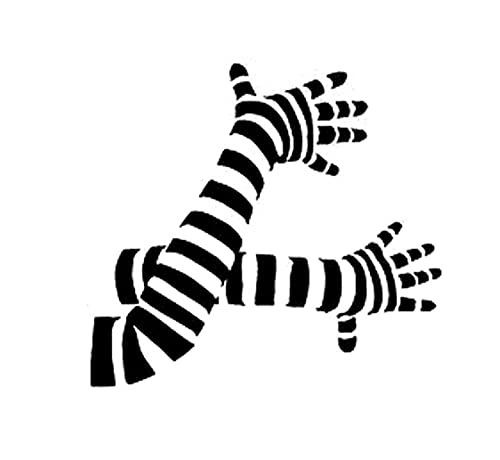 Adesivo per Auto Cane Adesivi Murali da 18 Cm * 16,7 Cm Mani Zebra Clown Divertente Angolo Mimo Braccio Vinile Decalcomanie per Auto