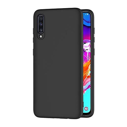 AICEK Cover per Samsung Galaxy A70, Cover Samsung Galaxy A70 Nero Silicone Case Molle di TPU Sottile Custodia per Samsung Galaxy A70 (6.7 Pollici)