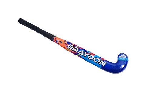 Graydon Junior Hockeyschläger, Holzkern mit Glasfaser-Schutz, Kinder, WG-703, Rot, Blau, 24