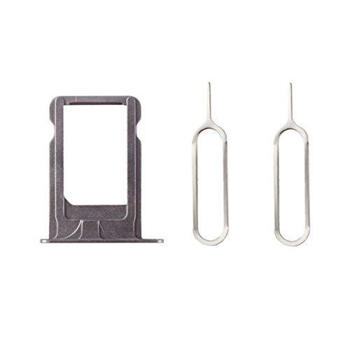 XcellentFixParts Scheda SIM Supporto Supporto per scheda SIM per iPhone 5S (Grigio) + 2 Adattatore per scheda SIM Nano e SIM Eject