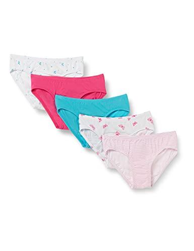 Schiesser Mädchen Unterwäsche 5er Pack Slip - 95/5 Organic Cotton, Assorted 1, 128
