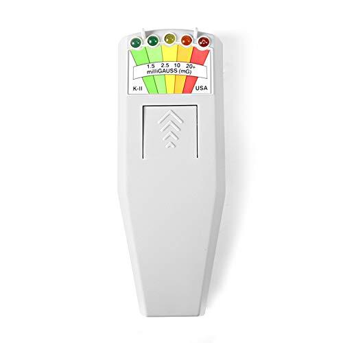 color tree Portatile LED EMF Detector Rilevatore di caccia ai fantasmi a campo elettromagnetiche magnetico Tester di apparecchiature paranormali 50Hz-20.000Hz Bianca