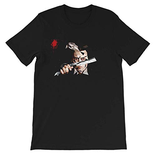 MESUSISIY Sweeney Todd Johnny #Depp Hollywood Portrait Actor Movie Cinema Film Unisex T-Shirt (Black-S)