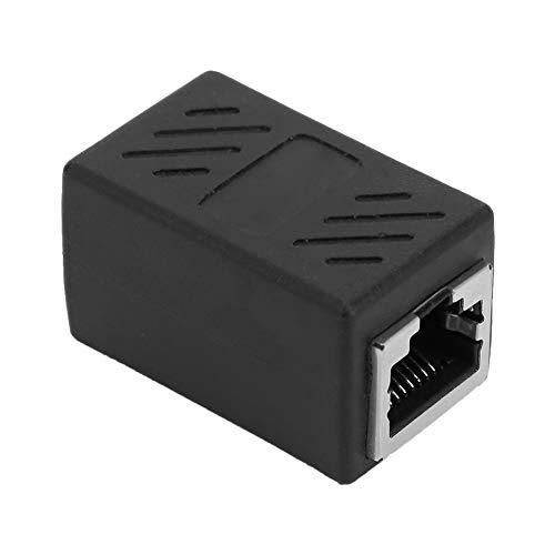 Weikeya Conector de cable estricto, resistencia a la temperatura Interfaz firme Resina Material Shell Conectores de extremo encogimiento ABS Resina ambiental para 8p8c Ordenador Banda ancha (negro)