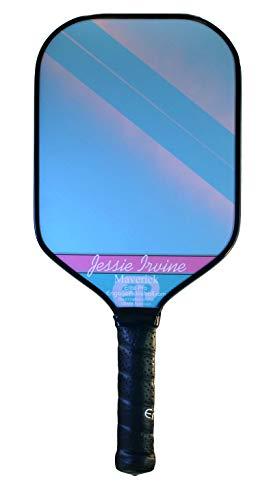 "Engage Elite Pro Maverick Pickleball Paddle | USAPA Approved | Textured ChemTEK Fiberglass Face & ControlPRO Polymer Core | Standard Weight 7.8-8.3 oz | Jessie Irvine | 4 1/4"" Grip"