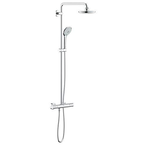 Grohe 27296001 Euphoria 180 - Sistema de ducha con termostato, alcachofa de 180mm y teleducha tres chorros de 110mm