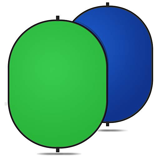 Yesker 2-in-1 Chromakey Green & Blue Screen 5x6.5ft Only $19.98 (Retail $99.90)