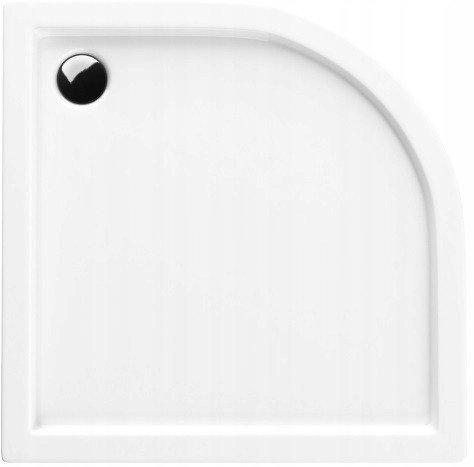 VBChome Acryl-Duschwanne 90x90x14 cm R55 Duschtasse Competia Viertelkreis für Duschkabine Styroporträger extra flach Sanitär-Acryl Duschbecken stabil weiß+ Viega Tempoplex