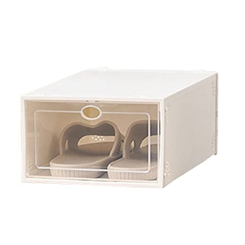 LiChaoWen Caja de Zapatos de plástico apilable Almacenamiento De Zapatos Cajas De Zapatos Clear Plastic Shoe Shoe Contenedores Tipo De Cajón Plegable Apertura Frontal para Armario Y Entrada