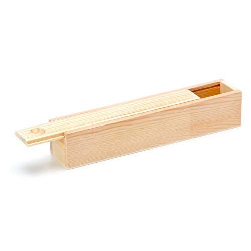 Darice Wood Pencil Box 8.25 x 1.57 x 1.57 inches (6-Pack) 9190-303