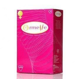 ORMELLE Scatola di 5 preservativi in lattice femminili