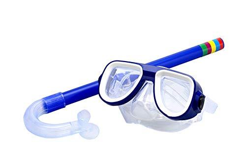 Juego de esnórquel para niños Miotlsy Máscara De Buceo Antivaho Y Antifugas, Paquetes de esnórquel para niños Buceo anteojos de 3 a 9 años de Edad con máscara, esnórquel, natación