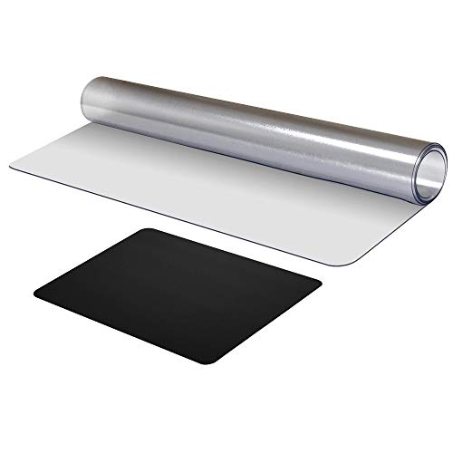 Clear Desk Pad 31.5x15.7 Inches PVC Glass Desk Protector Non-Slip Soft Writing Mat for Office and Home 0.06 Inches Thick Round Corners Mouse Pad Included Perfect for Working at Home
