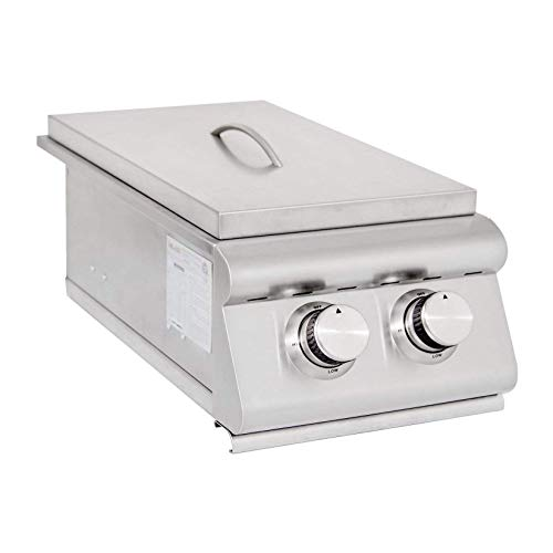 Blaze Grills 12,000 BTU Built-In Stainless Steel LTE Outdoor Double Side Burner with Drip Tray, Propane
