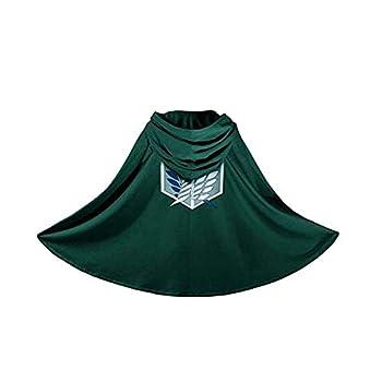 Yumeko Cloak Blanket Halloween Cosplay Costume Cape Green  S Green