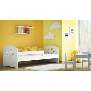 Children's Beds Home - Betthimmel, Einzelbett in Hausform, Teddy, 140 x 80 cm, Erle, keine Matratze aus Schaumstoff / Kokosnuss / Buchweizen