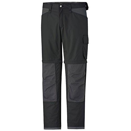 Helly Hansen Workwear, 76453, Pantaloni da lavoro San Diego Zip Off Pant pantaloni professionali con le gambe dei pantaloni staccabili, taglia 56, nero