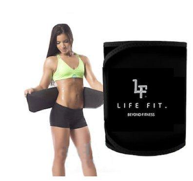 Lifefit über Fitness. Life Fit über Fitness Taille Trainer Gewicht Verlust ab Gürtel–Bauch Fat Burner Wrap Postpartale Taille Trimmer, Black!, Original: 9