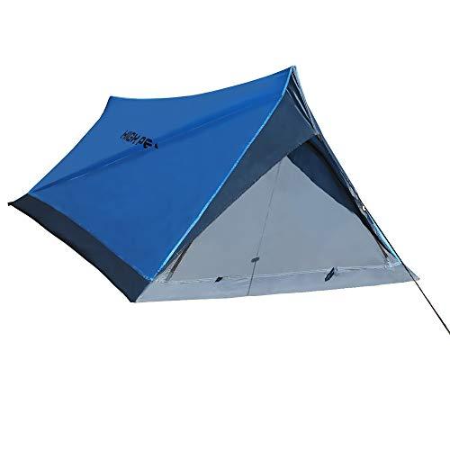 High Peak Firstzelte for 2 Personen 1.0kg Leichtes Campingzelt zum Wandern Klettern190T Polyester Wassersäule schneller Aufbau