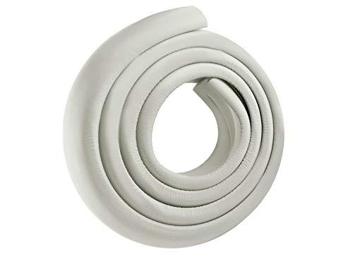 ISO TRADE Kantenschutz 2m Eckenschutz Klebeand Kinderschutz Möbel Sicherheit Baby weiß schwarz braun 2675, Farbe:Weiß / White