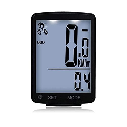 FYRMMD Cuentakilómetros para Bicicletas Velocímetro Inalámbrico Ordenador para Bicicletas a Prueba de Agua, Cuentakilómetros multifunción para Bicicletas, Meas (Cronómetro para Bicicletas)