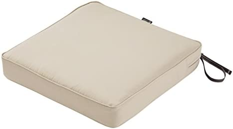 Classic Accessories Montlake Water Resistant 21 x 21 x 3 Inch Patio Seat Cushion Antique Beige product image
