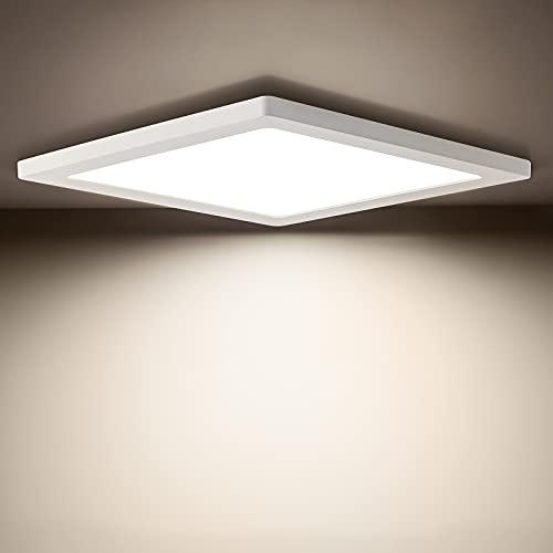 LED Deckenleuchte 24W, Oeegoo Platz Deckenlampe, 2040LM Ultraslim helle Deckenleuchten für Wohnzimmer, Schlafzimmer, Küche, Flur, 29 * 29 * 1.3cm, 4000K