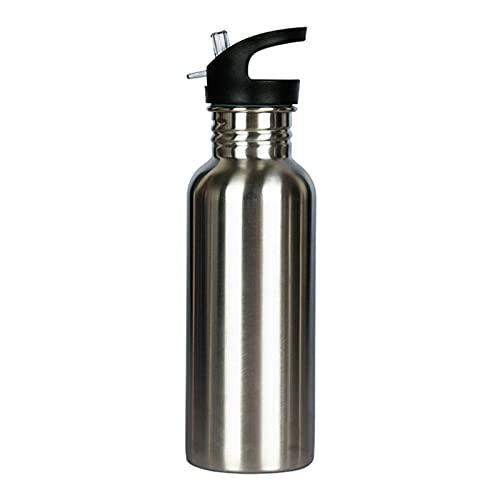mingtian Botella de Agua de Acero Inoxidable 304 de 500 ML, Botella de Bicicleta Deportiva portátil para Gimnasio, Tapa de bambú, matraz frío, Taza a Prueba de Fugas de Viaje 5