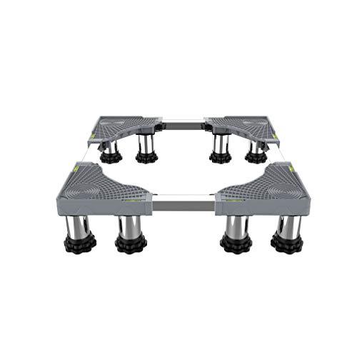 Heavy Duty 4/8/12 pies Lavadora Ajustable Soporte Base Largo/Ancho 42-66cm Soporte Secadora Antivibracion altura 13-17cm Pedestal frigoríficos para Bastidor Inferior - 350kg