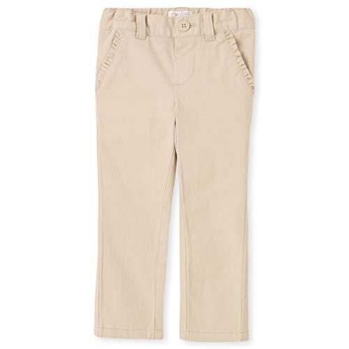 The Children's Place baby girls Skinny Chino School Uniform Pants, Bisquit, 5T US