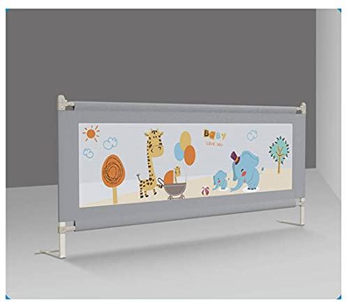 1,5 M * 1,06 M 1 Pz Barriera Per Letto Per Bambini Recinzione Pieghevole Baby Home Box Sul Letto Cancello Di Recinzione Culla Rotaie Regolabili Per Bambini (Parete Tubolare Ispessita, Grigio)
