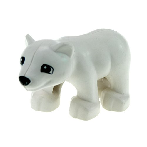 1 x Lego Duplo Tier Baby Eisbär Bär weiß Zoo Zirkus Arktis Tierpark Eis 64150