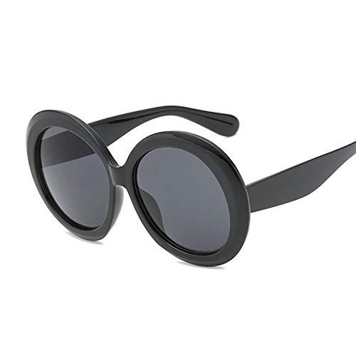 U/N Gafas de Sol Redondas de Gran tamaño para Mujer Gafas de Sol de Moda para Mujer Marco Grande Retro Espejo Vintage Luxury-2