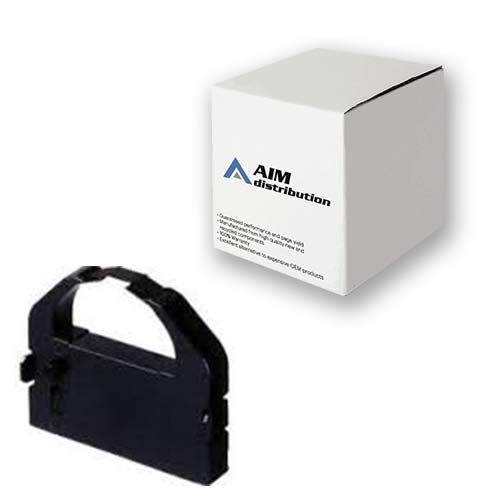 Price comparison product image AIM Compatible Replacement for EX-800 / 1000 Black Printer Ribbons (6 / PK) (8763-US) - Generic