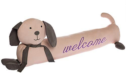 elbmöbel Zugluftstopper Hund lang Welcome Türstopper mit Füllung rosa