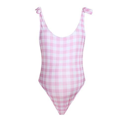 Zolimx Damen Umstandstankini Umstands-Tankini Set Monkini Mutterschaft Tankinis Frauen Gitter Print Bikinis Badeanzug Beachwear schwangeren...