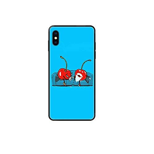 Lindo comics fruta cereza suave TPU negro teléfono celular para Huawei P8 P9 P10 P20 P30 P40 Lite Plus Pro 2017 P inteligente 2019-5-para HuaweiP40ProPlus