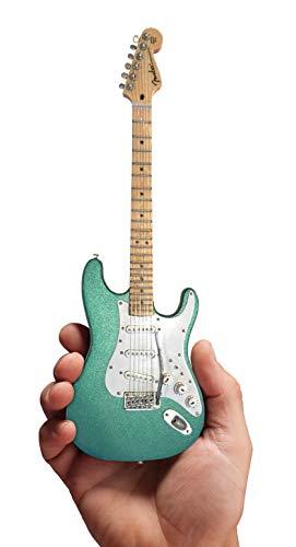 Mini guitarra Eric Clapton's Signature Aston Martin metálico verde miniatura Fender Strat Réplica de guitarra