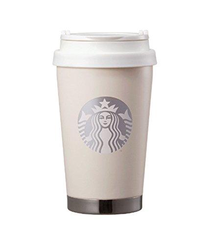 海外 Starbucks Elma modern white tumbler 355ml スターバックス エルマ ToGoモダンクリームホワイトステ...