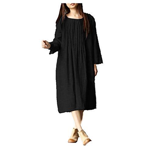 N\P Vestido de manga larga para mujer de verano primavera y otoño