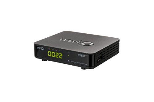 WWIO Trinity T2/C mini-kabel met DVB/T2-ontvanger (DVB-C/DVB/T2), HDTV, digitale weergave, EPG, videotekst, mediaspeler) zwart
