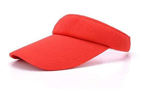 Sonnenblenden Kappe Hut für Frauen und Damen, Mädchen Verstellbare Visierkappe für Golf, Tennis, Strand, Radfahren, Laufen und andere Sportarten, Gr. Einheitsgröße, rot