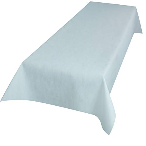 Sensalux abwaschbare Tischdecke, Lotuseffekt, Oeko-TEX Standard 100 - Klasse I Zertifiziert, 1,2m x 2,7m Weiß
