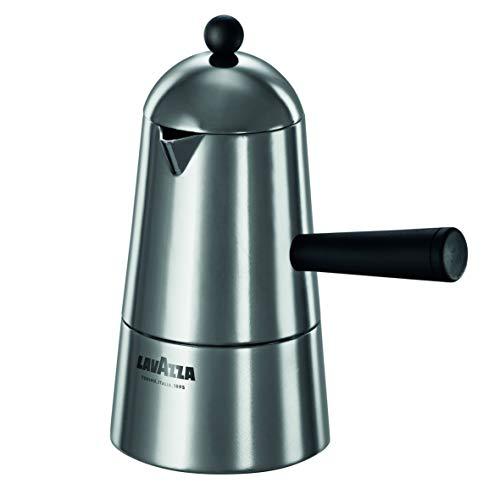 Ilsa Carmencita Espressokocher aus Aluminium, schwarzer Griff, Tassen 6