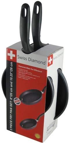 Swiss Diamond - 'Combo Pack' Padella Bassa 20cm e Padella Bassa 26cm