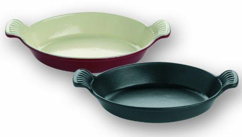 Plat ovale professionnel coloris rouge de fer - 340mm*210mm