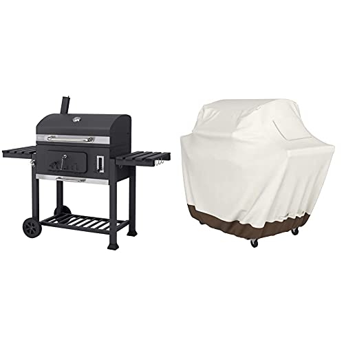 Tepro Toronto Xxl 2019 Carrello Per Barbecue, In Acciaio Inox, Colore: Antracite & Amazon Basics Copertura Per Barbecue, Misura Xxl