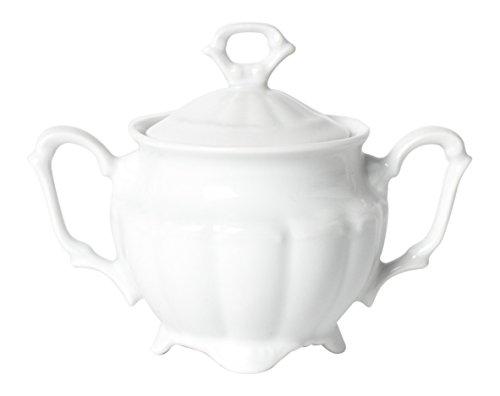Excelsa Mademoiselle Sucrier 25 cl, Porcelaine, Blanc, 15 x 9 x 8 cm