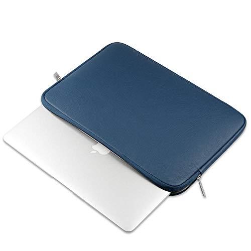 Yinghao Morbida Pelle PU per MacBook Air 13 PRO Retina 11 12 Custodia per Notebook da 14 Pollici per Notebook 13 3 15 Touch Bar Borsa per Custodia Impermeabile@Blu_2016 Nuovo pro13 A1706